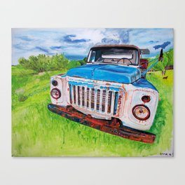 Beat up truck Canvas Print
