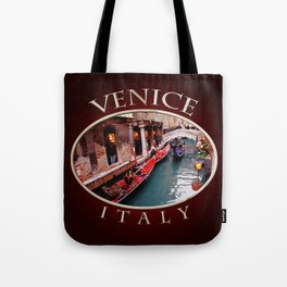 Gondolas On A Small Venetian Canal Tote Bag