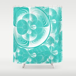 Light turquoise abstract Shower Curtain