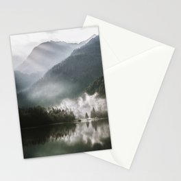 Mountains fog Stationery Cards