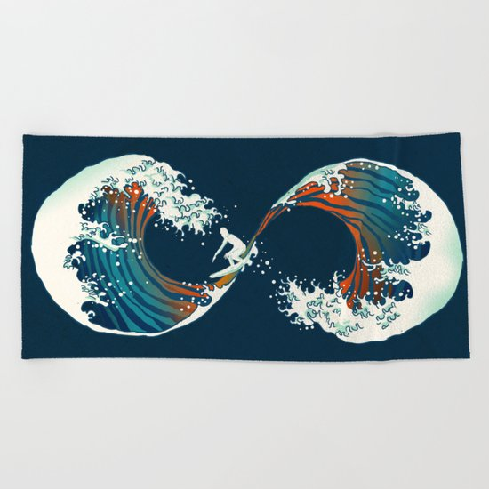 The Wave is forever Beach Towel