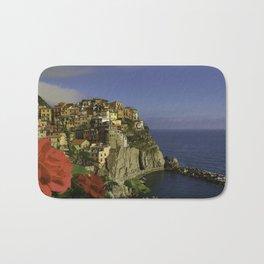 Postcard Perfect Manarola Italy Bath Mat