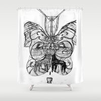 giraffes Shower Curtains featuring Giraffes. by sonigque