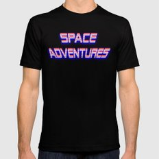 Space Adventures Arcade banner Black MEDIUM Mens Fitted Tee