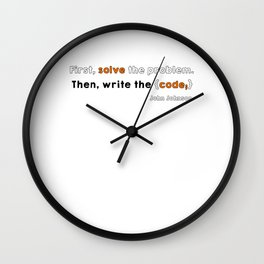 Solve the problem Wall Clock