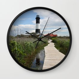 Fire Island Light With Reflection - Long Island Wall Clock