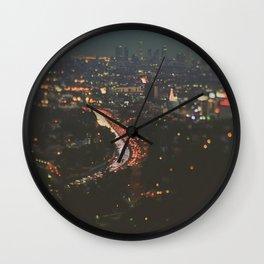 L.A. Skyline. Stardust Wall Clock
