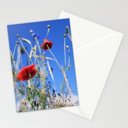 Poppies flower Stationery Cards