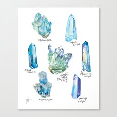 Crystal Collection- Blues Canvas Print