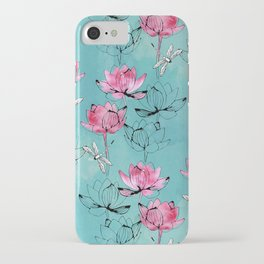 Waterlily dragonfly iPhone Case