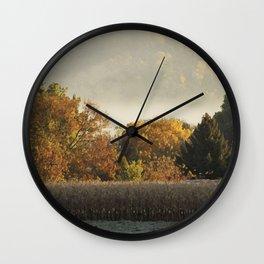 Autumn Cornfield Wall Clock
