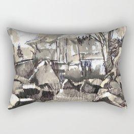 Summer walks in the woods.  Rectangular Pillow
