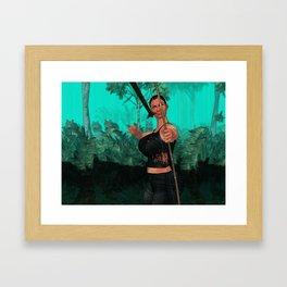Survivor is shotting Framed Art Print