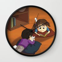 reading Wall Clocks featuring Reading by Ana  La Bella Carapinheiro