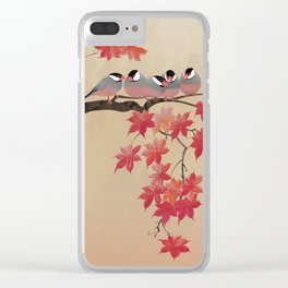 Java Sparrows in Japanese Maple Tree Clear iPhone Case