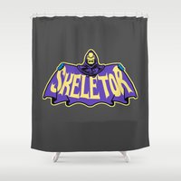 skeletor Shower Curtains featuring Skeletor cloak by Buby87