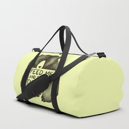 Feed Me And Tell Me I'm Pretty (Yellow) Duffle Bag