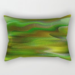 Waves of Abstraction (olive-apple-avocado green) Rectangular Pillow