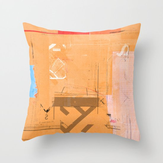 CROSS OUT #33 Throw Pillow