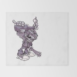 Anarchy Skeleton - Amethyst Smoke Throw Blanket