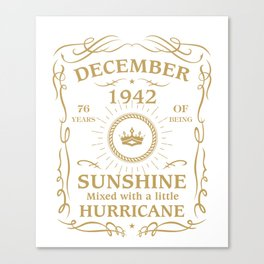 December 1942 Sunshine mixed Hurricane Canvas Print