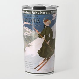 1905 Chamonix France Winter Sports Travel Poster Travel Mug