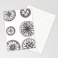 Compasses Stationery Cards