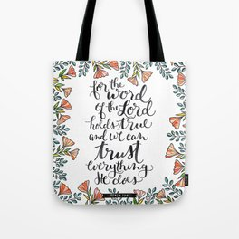 The Word of the Lord Tote Bag