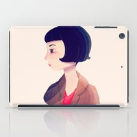 amelie iPad Cases featuring Amelie by Nan Lawson