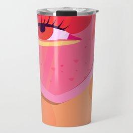 pink sunglasses Travel Mug