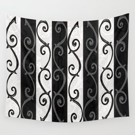 Burtonesque Stripes and Swirls.. Wall Tapestry