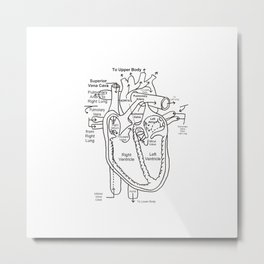 My Heart Work Metal Print