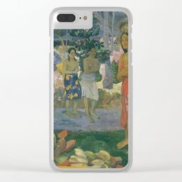 Paul Gauguin - Ia Orana Maria (Hail Mary) (1891) Clear iPhone Case