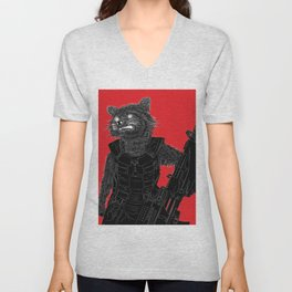 Rocket Raccoon, GuardiansOfTheGalaxy Unisex V-Neck
