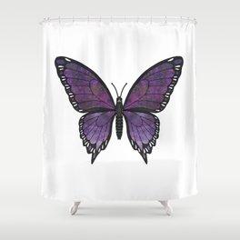 purple vanessa (Vanessae purpura) Shower Curtain