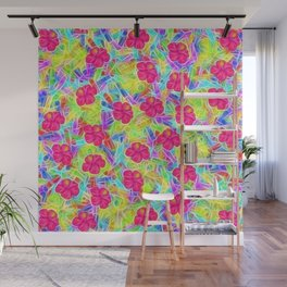Hawaiian Pink Flowers Wall Mural