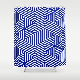 Blue (Pantone) - blue - Minimal Vector Seamless Pattern Shower Curtain