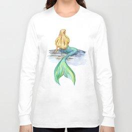 Mermaid Watercolor Long Sleeve T-shirt