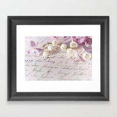 Loveletter Framed Art Print