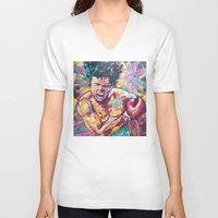ali gulec V-neck T-shirts featuring Ali by somanypossibilities