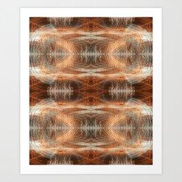 Trails (Red Spectrum) Art Print