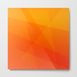 Orange Sunset Metal Print