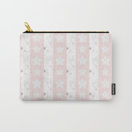 Stars Stripe, January Stars blush and gray Carry-All Pouch