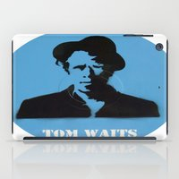 tom waits iPad Cases featuring Tom Waits Record Painting by All Surfaces Design