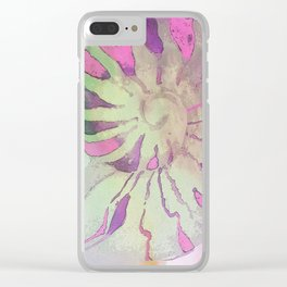 NAUTILUS SEA SHELL PINK IMPRESSIONS Clear iPhone Case