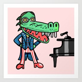 Elton Crocodile Art Print