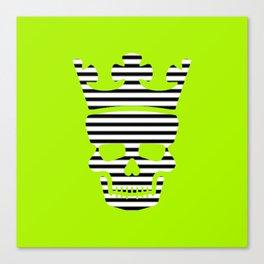 skull king green II Canvas Print