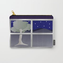 Window view at night Carry-All Pouch