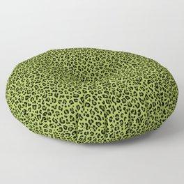 PSYCHOBILLY GREEN LEOPARD PRINT – Lime Green | Collection : Leopard spots – Punk Rock Animal Prints. Floor Pillow