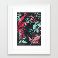 jungle Framed Art Prints featuring Jungle by theroyalbubblemaker